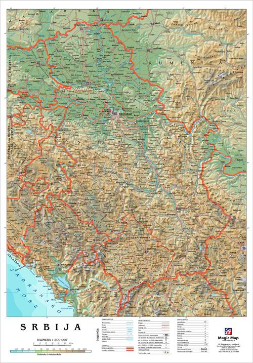 reljefna karta srbije Geografski elementi karte i orijentacija karte reljefna karta srbije