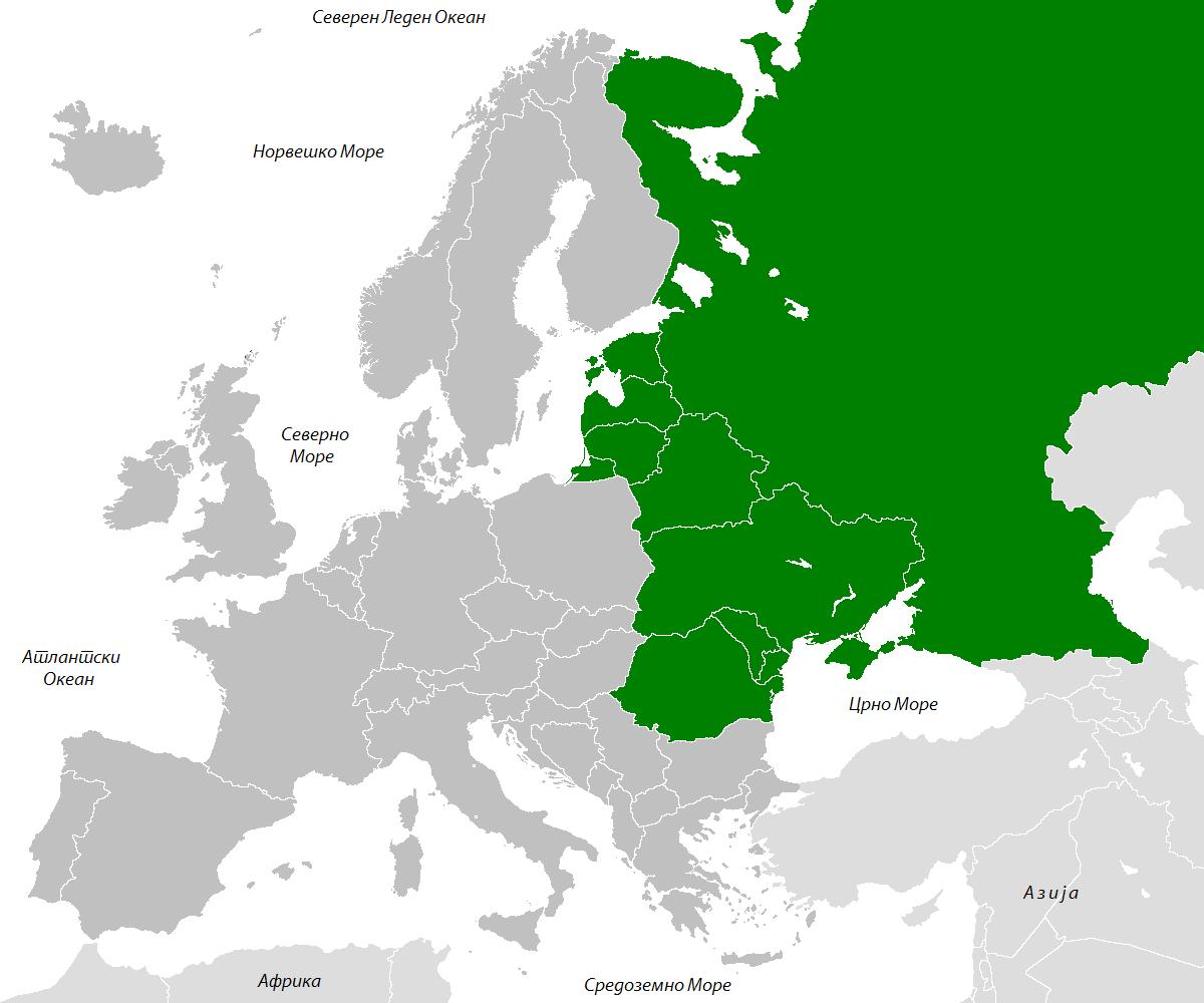 geografska karta istocne evrope Istočna Evropa geografska karta istocne evrope