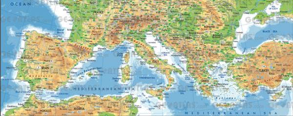 geografska karta istocne evrope Geografski položaj i fizičkogeografske odlike Južne Evrope geografska karta istocne evrope