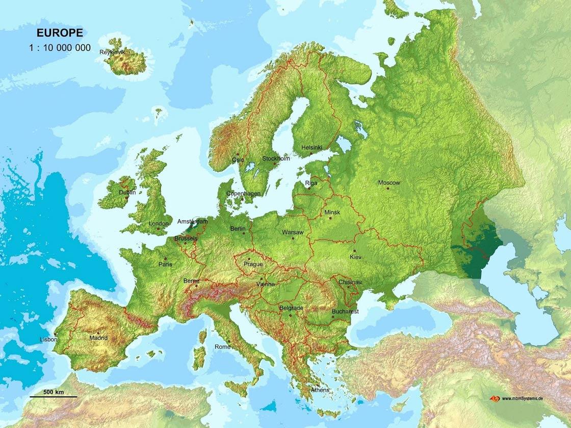 Opstegeografske Odlike Evrope Osnovni Geografski Podac