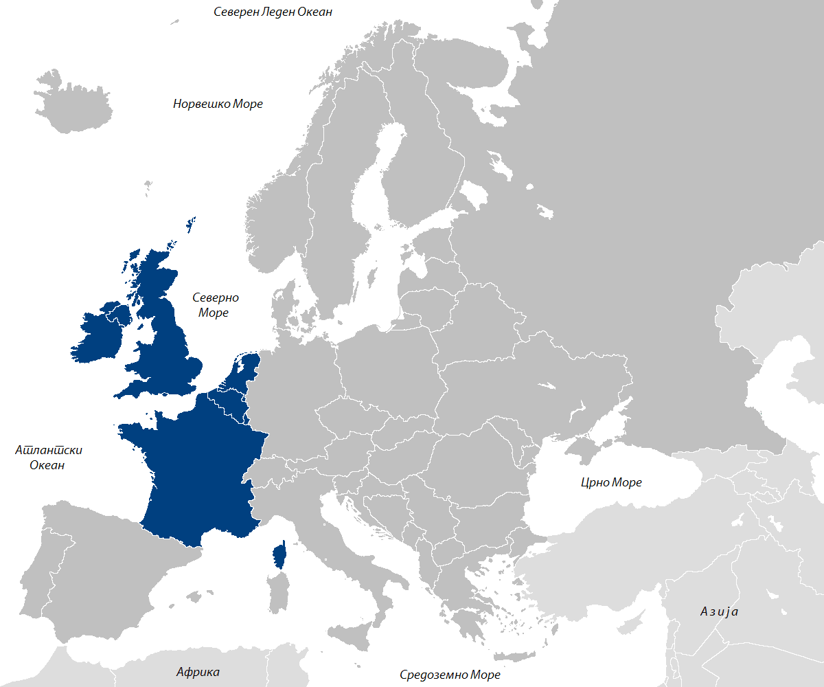 nema karta zapadne evrope Zapadna Evropa nema karta zapadne evrope