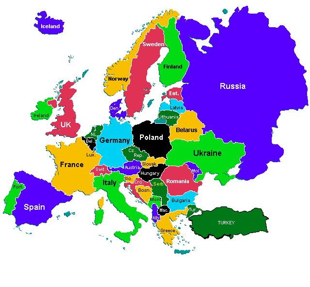 politička mapa evrope Seobe Slovena politička mapa evrope